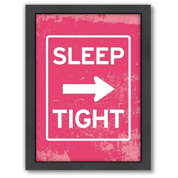 Americanflat Patricia Pino ''Sleep Tight'' Framed Wall Art ($66) ❤ liked on Polyvore featuring home, home decor, wall art, words, text, saying, quotes, phrase, multicolor and backgrounds