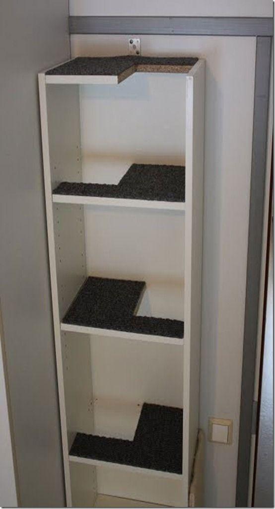 Dá pra fazer com uma estante simples.