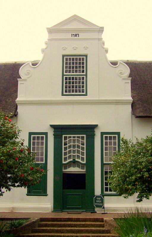 Cape Dutch Facade - PAARL, Western Cape
