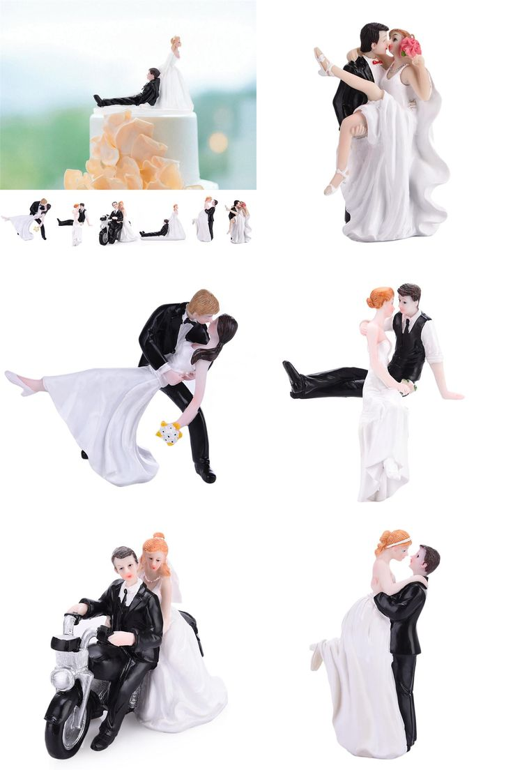 [Visit to Buy] High Quality Synthetic Resin Bride Groom Wedding Cake Topper Romantic Wedding Party Decoration Adorable Figurine Craft Gift #Advertisement