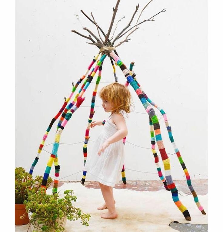 Manualitats de natura: creatives peces decoratives fetes amb troncs / tot nens