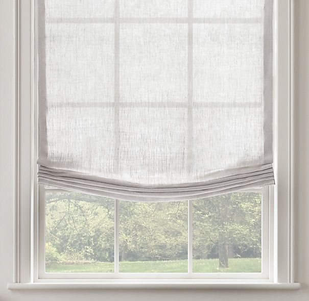 25 best ideas about linen roman shades on pinterest for Linen shades window treatments