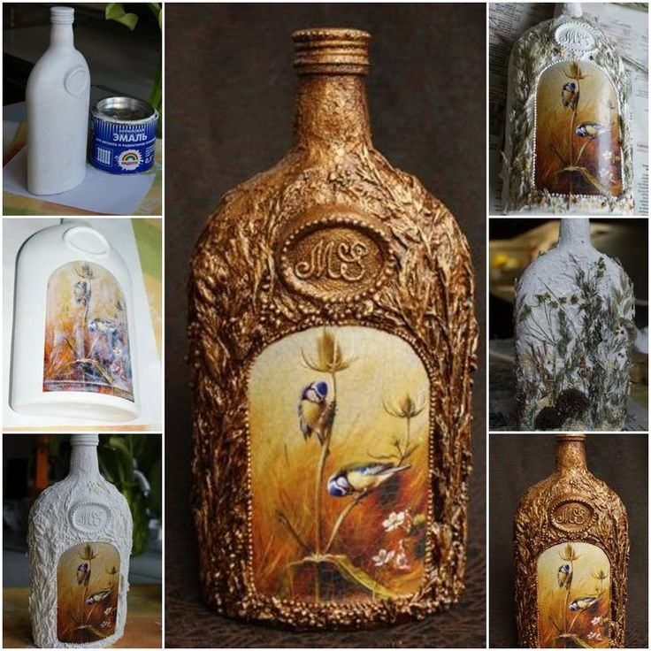 How to make Decorative Glass Bottle step by step DIY tutorial instructions, How to, how to do, diy instructions, crafts, do it yourself, diy website, art project ideas