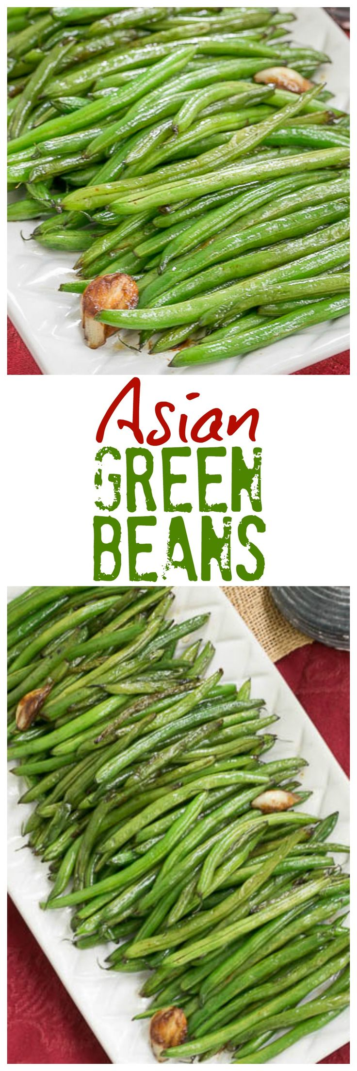 Asian Green Beans | An easy, irresistibe side dish with an Asian twist! @lizzydo