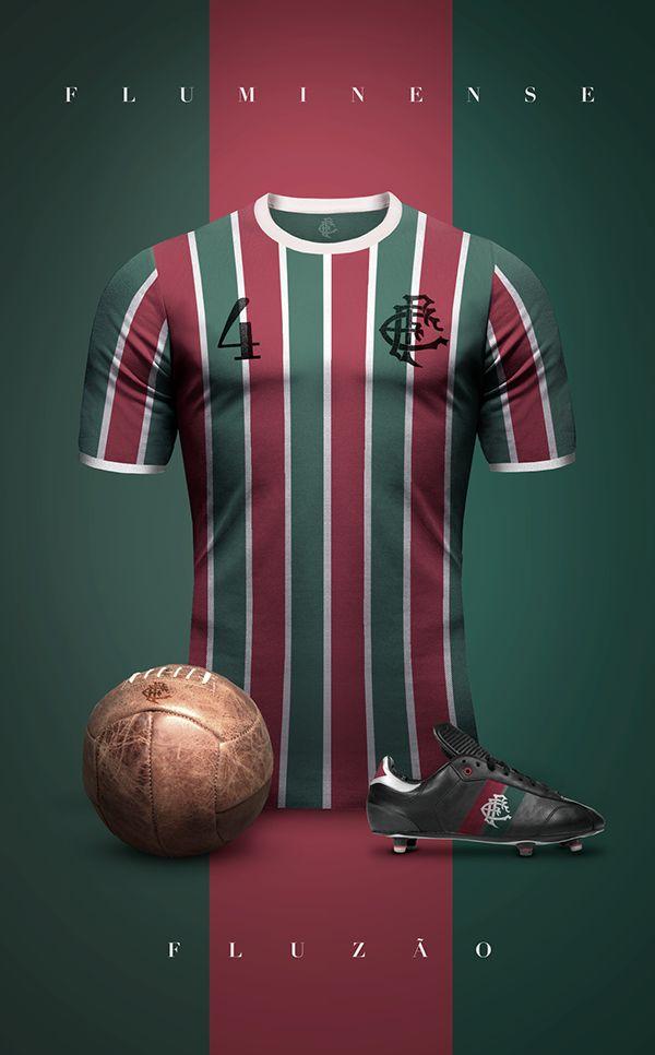 Vintage Clubs II on Behance - Emilio Sansolini - Graphic Design Poster - Fluminense - Fluzão