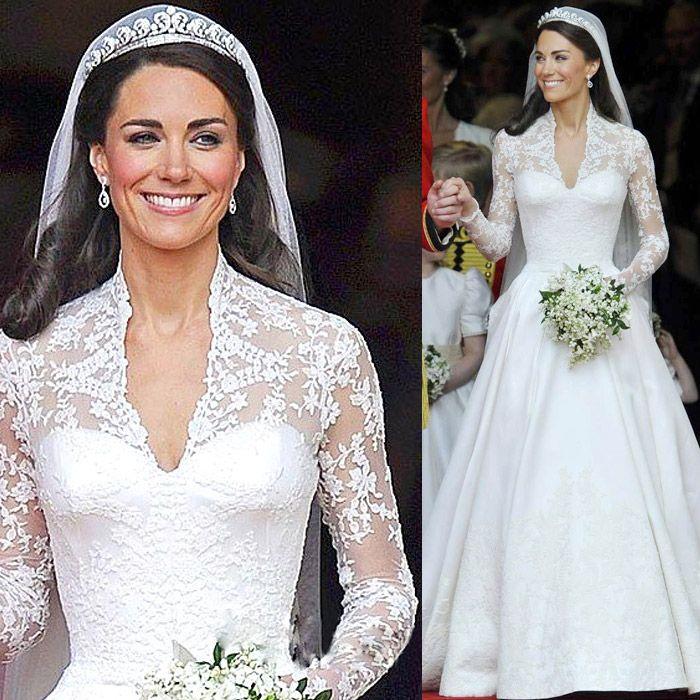 robe de mariée en dentelle à manches longues et en V profond et de grande fuite de luxe dernières collections de 2013 d'hiver