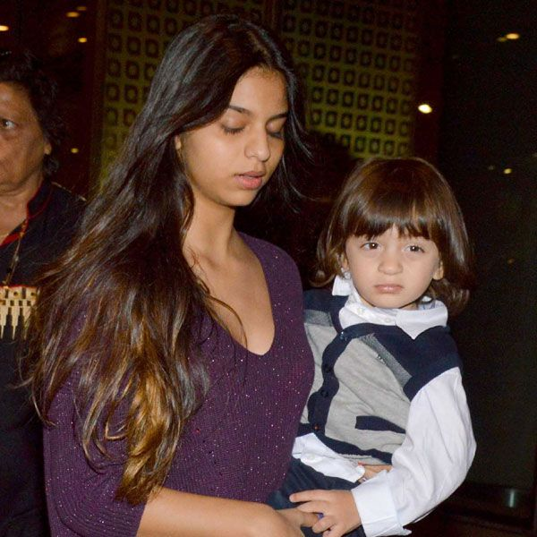 AbRam with sister Suhana Khan : These 20 photos of SRK's son AbRam will make you go awww!