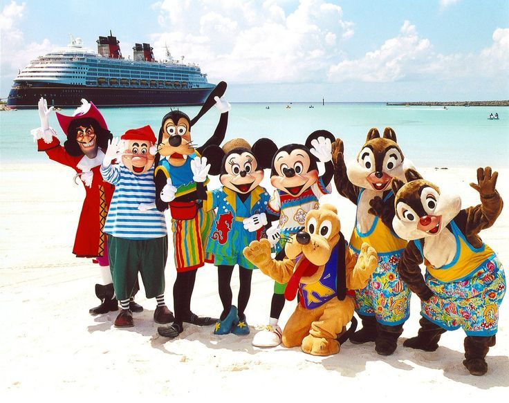 characters on the Disney Island