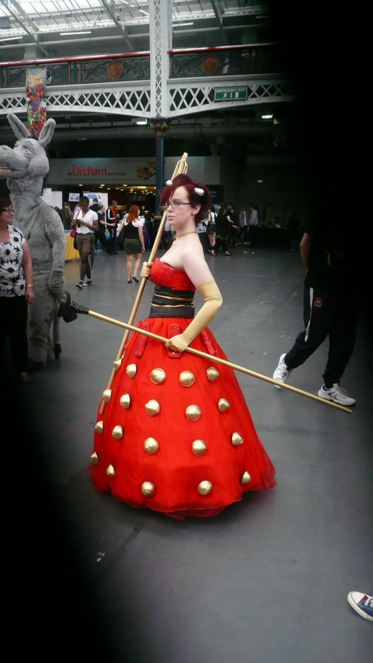 """Great full length version  """"Dalek dress from London & Film Comic-Con 2012 #DoctorWho #costumes"""""""