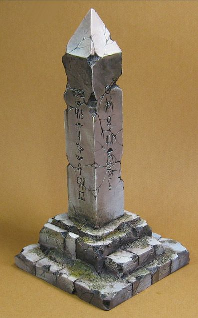 The Obelisk!  Painted for the box art of the video, the credits, and such.        It will also make some nice Khemri terrain!        It...