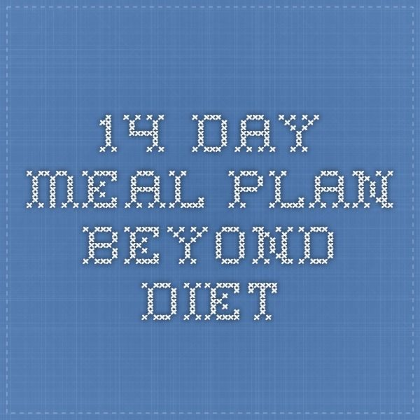 14 Day Meal Plan Beyond Diet