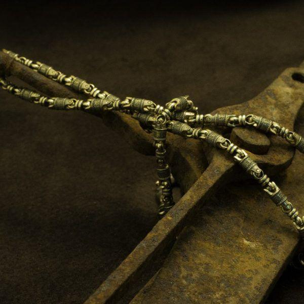 Цепь «Да воскреснет Бог…», золото 585 пр.| Кустодия-творческая мастерская. Ювелирные украшения ручной работы./ Цепи и браслеты золотые и серебряные/
