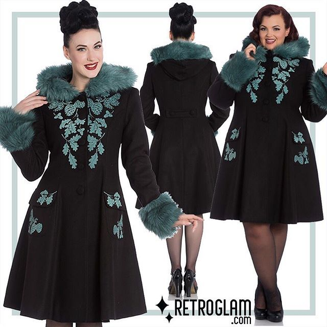 We have all the amazing coats from Hell Bunny including the beautiful Sherwood! #retroglam #pinup