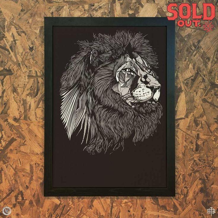 LUKE DIXON - Lionface - A3 Print - Limited Edition -