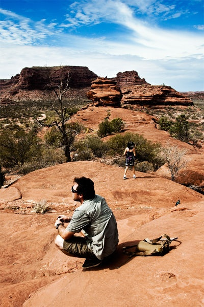 hike in a different country! in the Outback ... Australia