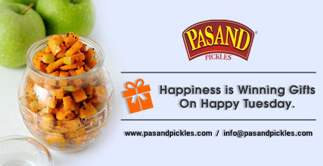 Happiness is winning gifts on happy Tuesday