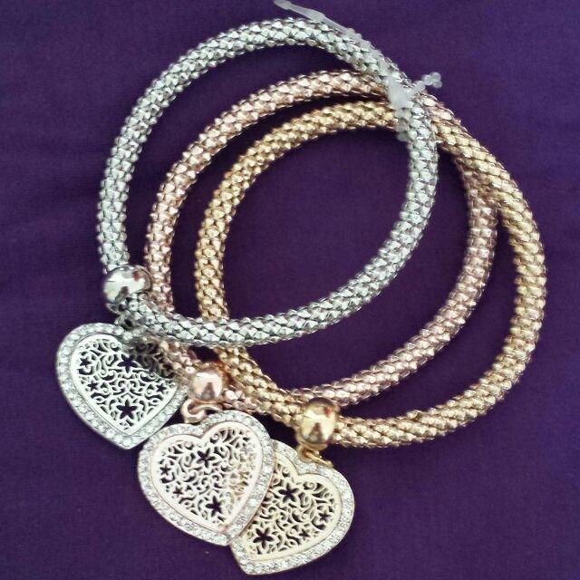 VENDO/SCAMBIO bracciali bijou 3 colori argento oro rosa e oro ...