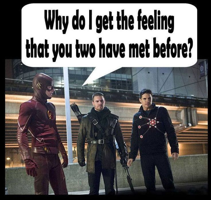 I love Meme Mondays! [Arrow's Stephen Amell & The Flash's Robbie Amell are cousins]