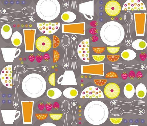 Mod Breakfast fabric by cynthiafrenette on Spoonflower - custom fabric