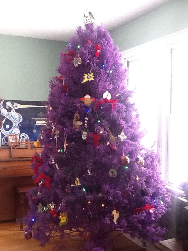 Purple Christmas Trees | Stay At Home Mum