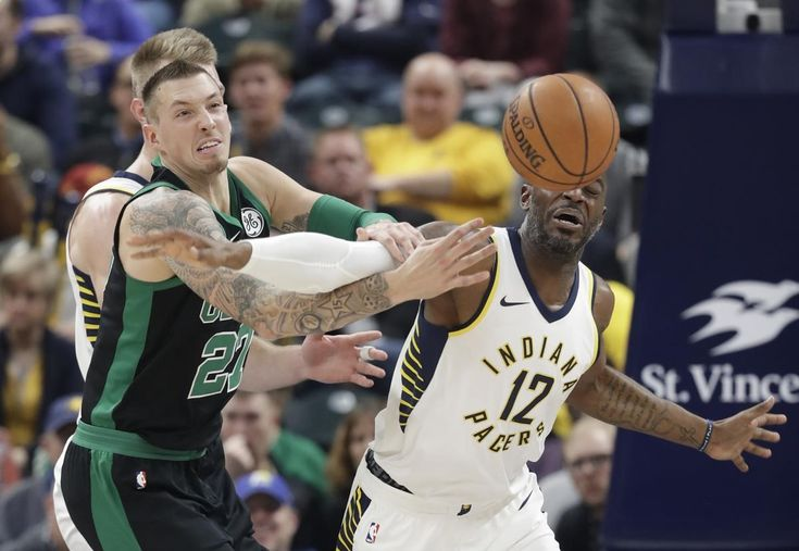 Academy of Scoring Basketball - Boston Celtics Daniel Theis (27) and Indiana Pacers Damien Wilkins battle for a loose ball during the first half of an NBA basketball game, Saturday, Nov. 25, 2017, in Indianapolis. (AP Photo/Darron Cummings) TSA Is a Complete Ball Handling, Shooting, And Finishing System!  Here's What's Included...