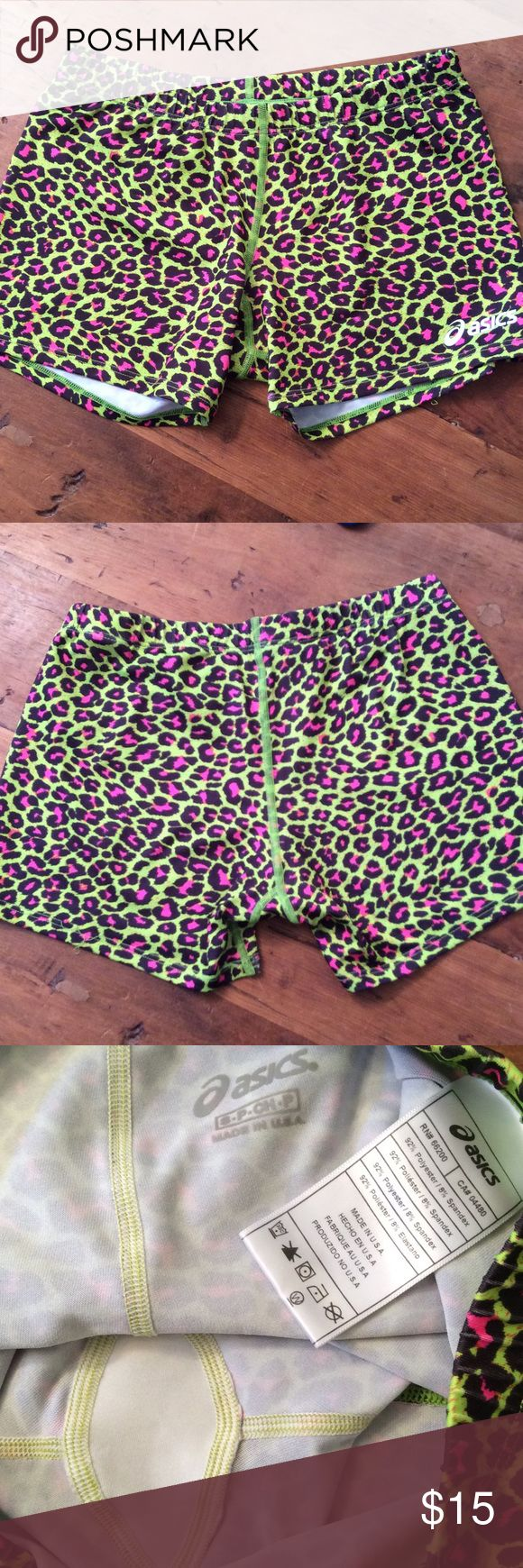 Oasis shorts Pink and green exercise or swim shorts by Oasis size small petite oasis Shorts