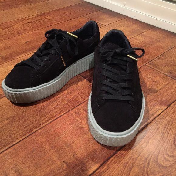 Puma Shoes - Fenty dark blue creepers Rihanna
