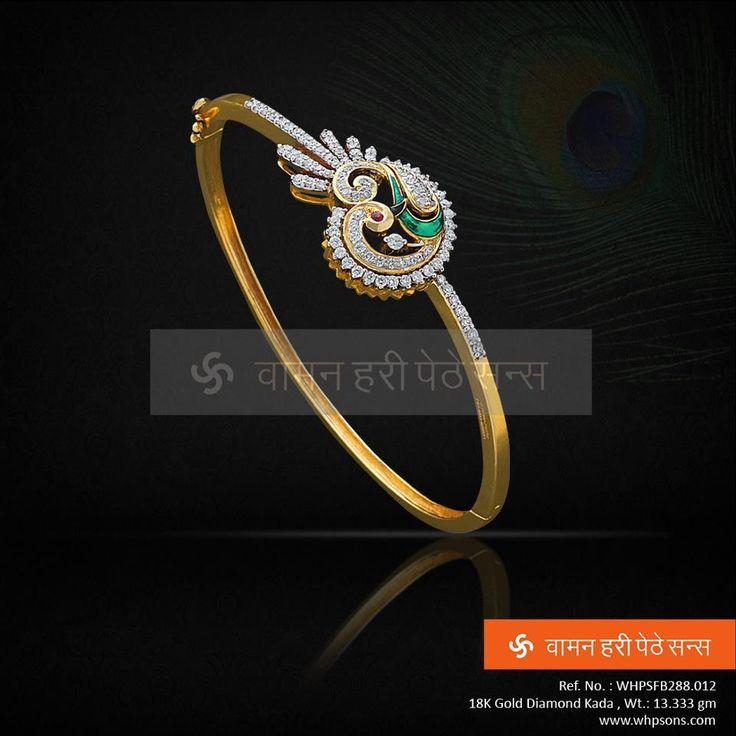 Beautiful peacock diamond kada