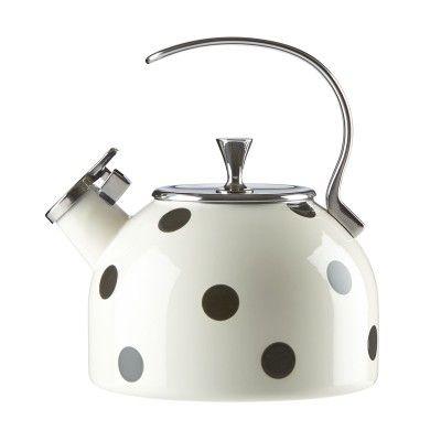 Kate Spade New York® Deco Dot Tea Kettle #katespade #teakettle #giftsforgrads
