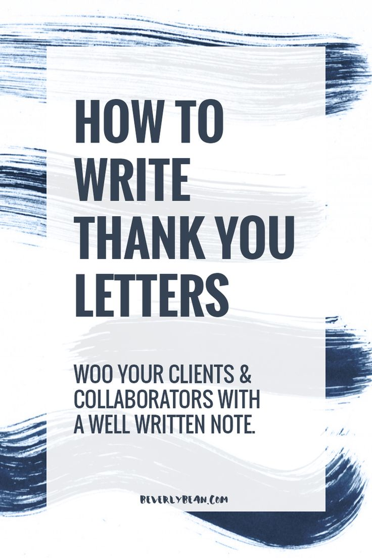 How to woo your clients & collaborators with a well written thank you note | Beverly Bean