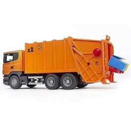 Bruder Scania R-Series  Orange Toy Garbage Truck $90.29 http://www.educationaltoysplanet.com/bruder-scania-r-series-orange-toy-garbage-truck.html