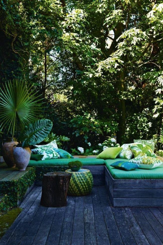 Terrasse bois et green