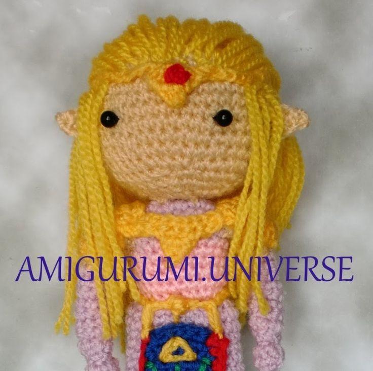 How to add hair by Amigurumi.Universe. Tutorial cabello liso amigurumi.
