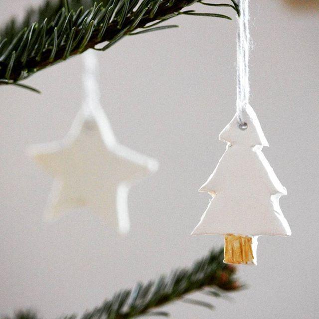DIY ceramic Christmas tree ornaments