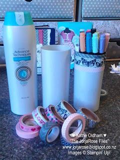 """Recycling 101: {AVON} Shampoo/Conditioner Bottles by Kathe Oldham for """"The JorjaRose Files"""""""
