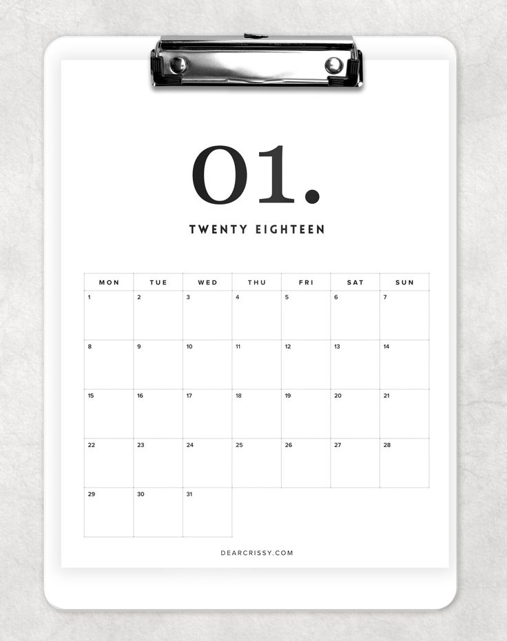 Our free 2018 minimal calendar printable offers a clean, white, simple design to help you plan your fabulous new year. Download your free copy today!