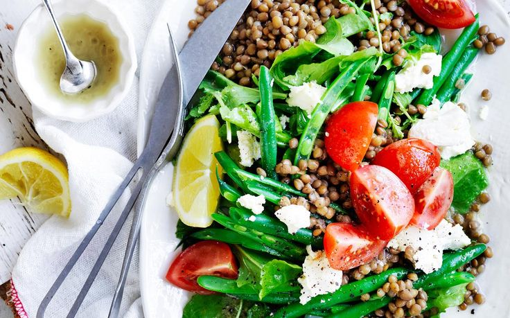 Lentil, green bean and fetta salad recipe - By Australian Women's Weekly, This deliciously fresh and healthy lentil, green bean and fetta salad is packed with mouthwatering flavour and texture, making it the perfect dinner for any night of the week!