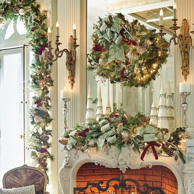 Mantle Decorations Christmas: 659 Best 14. Christmas Decor Images On Pinterest
