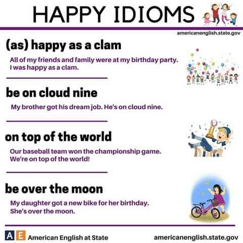 HAPPY idioms #learnenglish
