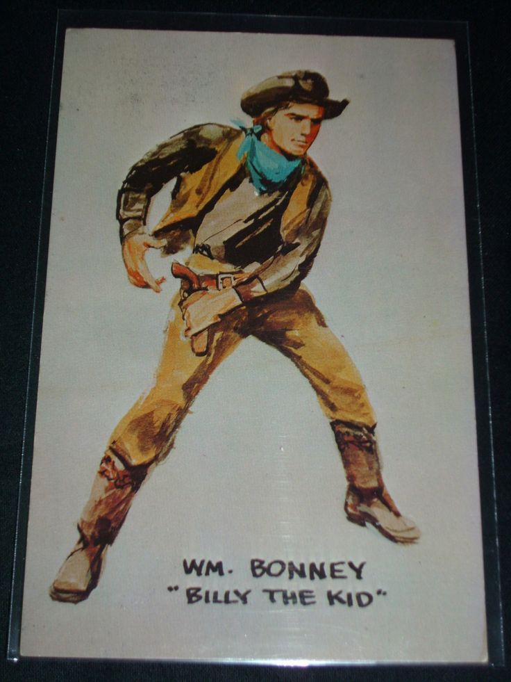 Post Card of William H Bonney Billy The Kid Lincoln County War NRMT RARE 11 | eBay