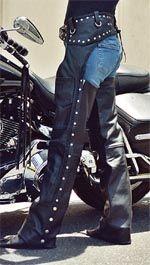 Black Studded Leather Chaps - Customer Gallery - BaddAssChaps.com
