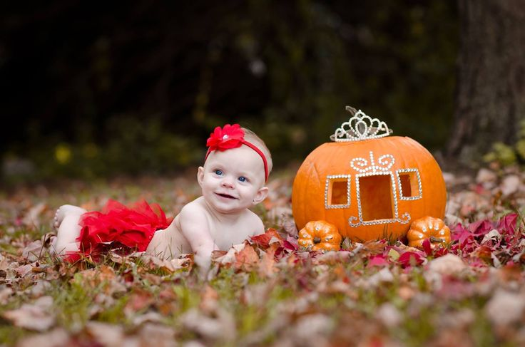 A princess with her carriage! #baby #princess #pumpkin #happybaby #photography