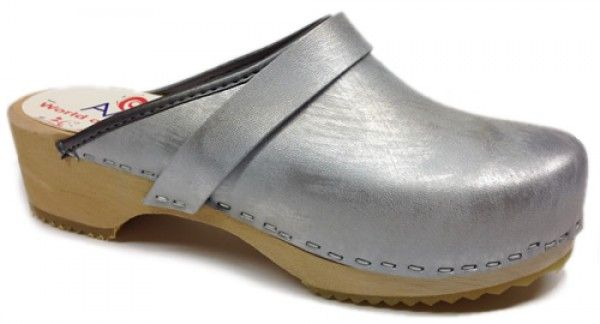 AM-Toffeln 100 Clogs in Silver