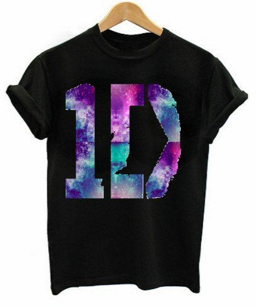 1D One Direction Galaxy Print Logo T-Shirt. £15.00, via Etsy.