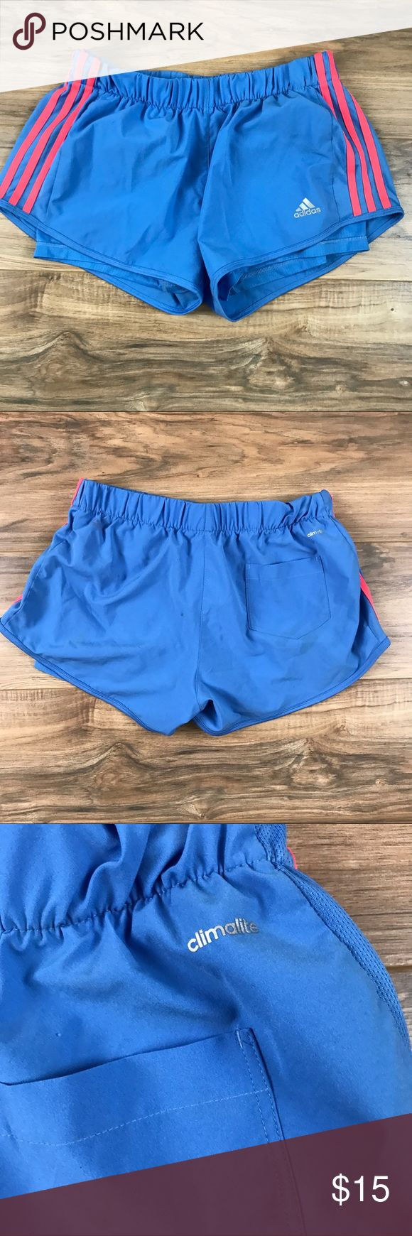 Adidas Women's track Shorts Great gym attire! Women's climalite adidas. Nice lightweight for the gym and outdoors! Adidas Shorts