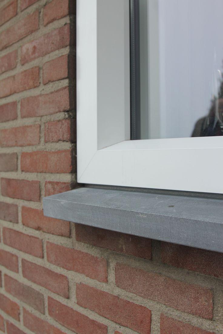 hardsteen raamdorpel met kunststof kozijn