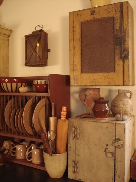 634 best Primitive Shelves and Wall Cabinets images on ...