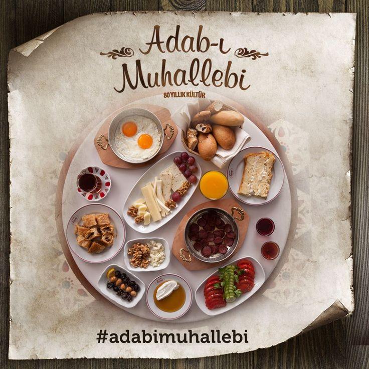 Adab-ı Muhallebi; hem göze hem de damağa hitap eden kahvaltı sofralarıdır.