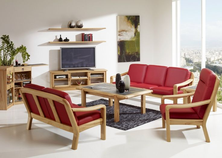 Living Solid Sofa Set. Wooden Sofa DesignsWooden ...