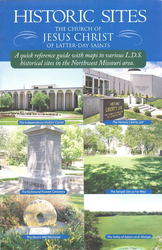 LDS Church History Sites in Missouri - maps